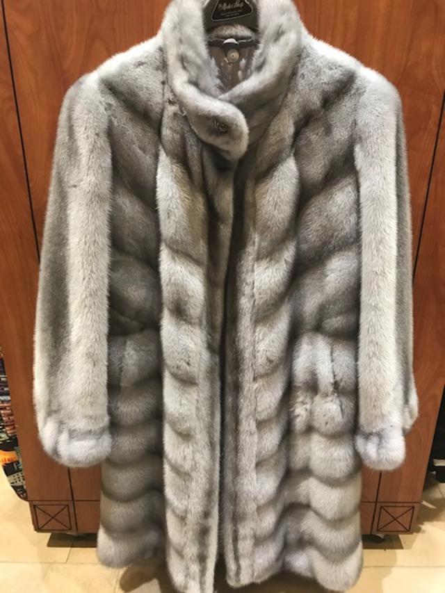 Renezvous Ladies Short Length Stoller Mink Jacket Grey