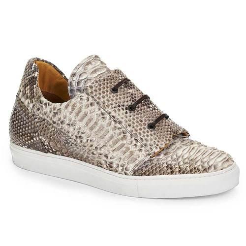 2019 Mauri Oglio Python Slip On Sneaker Natural 8589