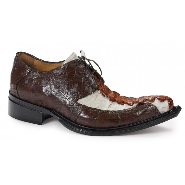 2019 Mauri Brenta Handpainted Baby Croc Lace Up Shoe 44203