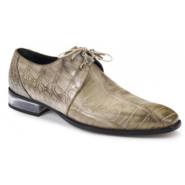 2019 Mauri Trebbia Alligator Handpainted Lace Up Shoe 4851