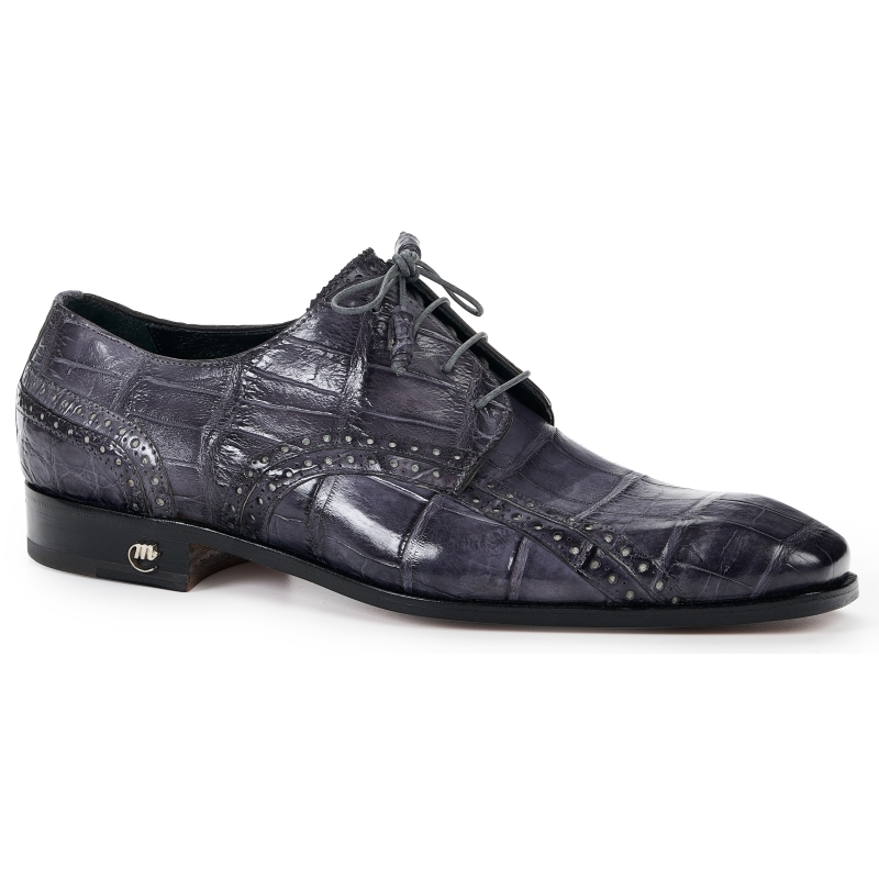 Spring 2019 Mauri Alligator Derby Lace Up Shoe Gray 4858