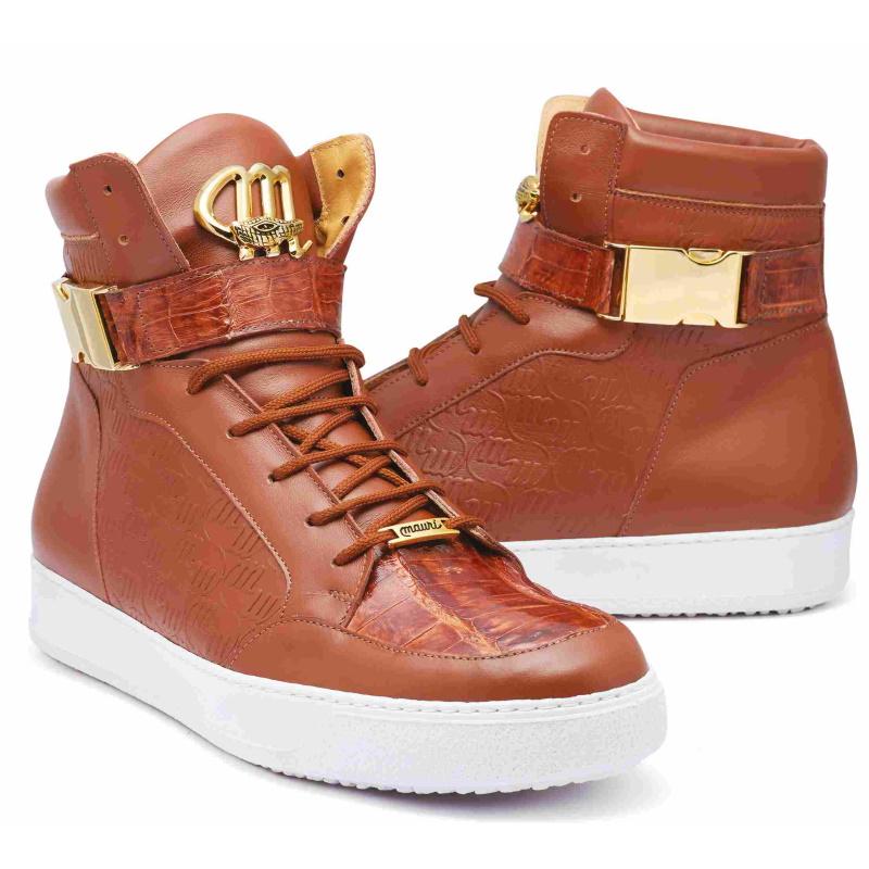2020 Fall Mauri Hitman Nappa Embossed M Logo High Top Sneaker 8500