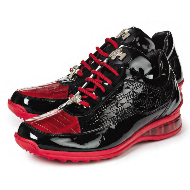 2020 Mauri Bubble Patent Leather Logo Sneaker Red 8900/2