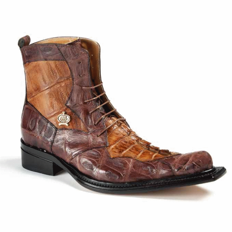 Fall 2018 Mauri Rafaello Baby Crocodile Hornback Boots Rust Brandy 42742