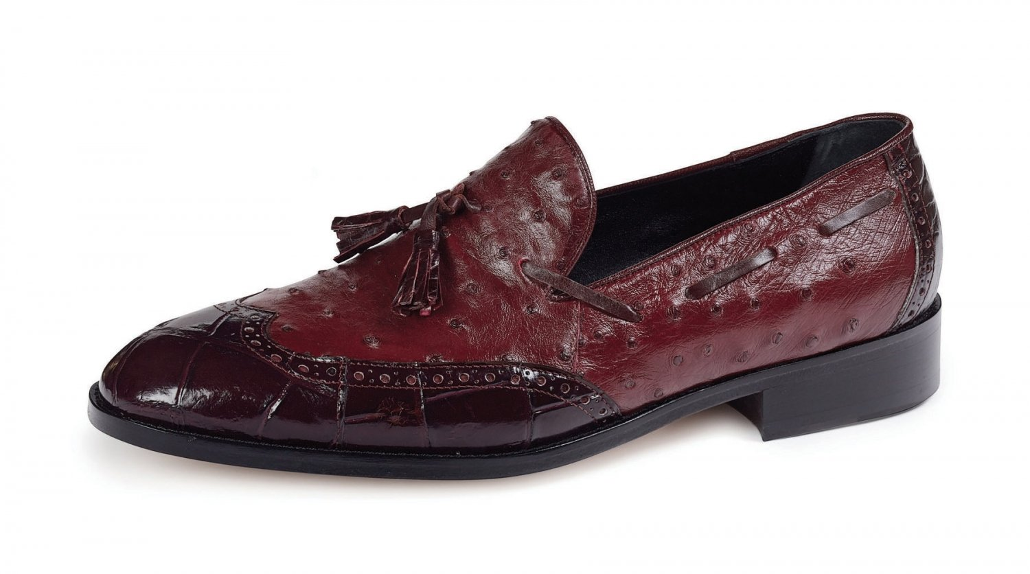 Fall 2018 Mauri Alligator Ostrich Ruby Red 53129