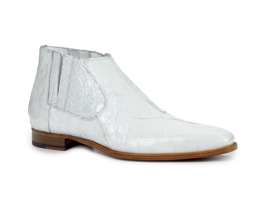 Fall 2018 Mauri Alberti Body Alligator High Top Boot White 4780