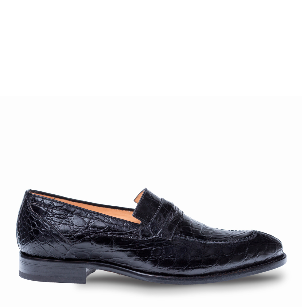 Mezlan Bixby Crocodile Penny Loafer 4366-C