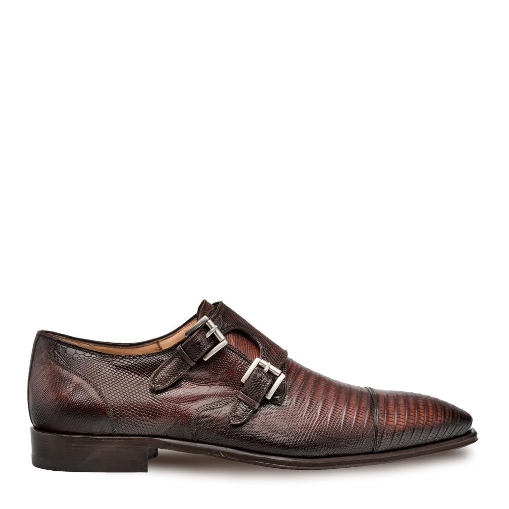 Mezlan Aregntum Lizard Double Monk Strap Shoe 4591-L