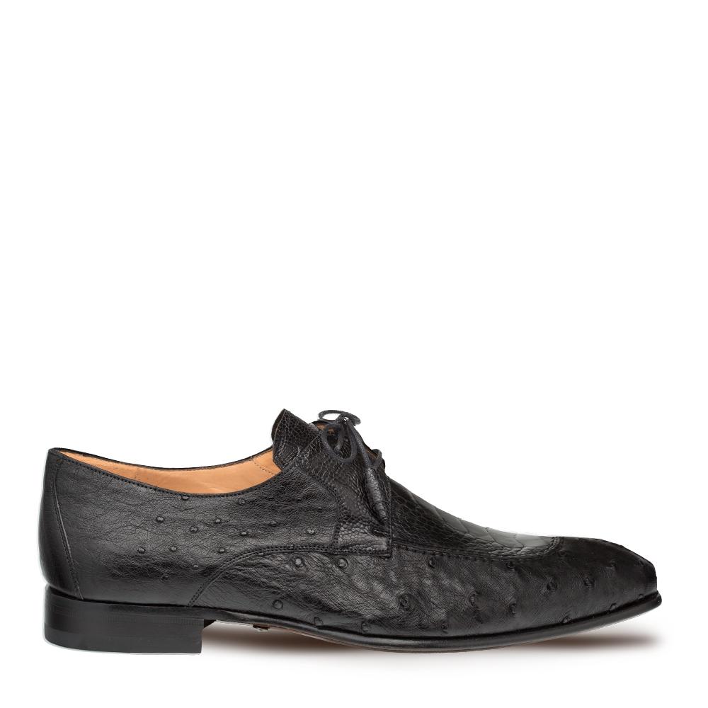 Mezlan Amadeus Ostrich Lace Up Shoe Black 4638-SP