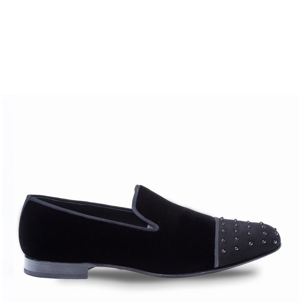 Mezlan Abel Formal Velvet Slip On Black 8481