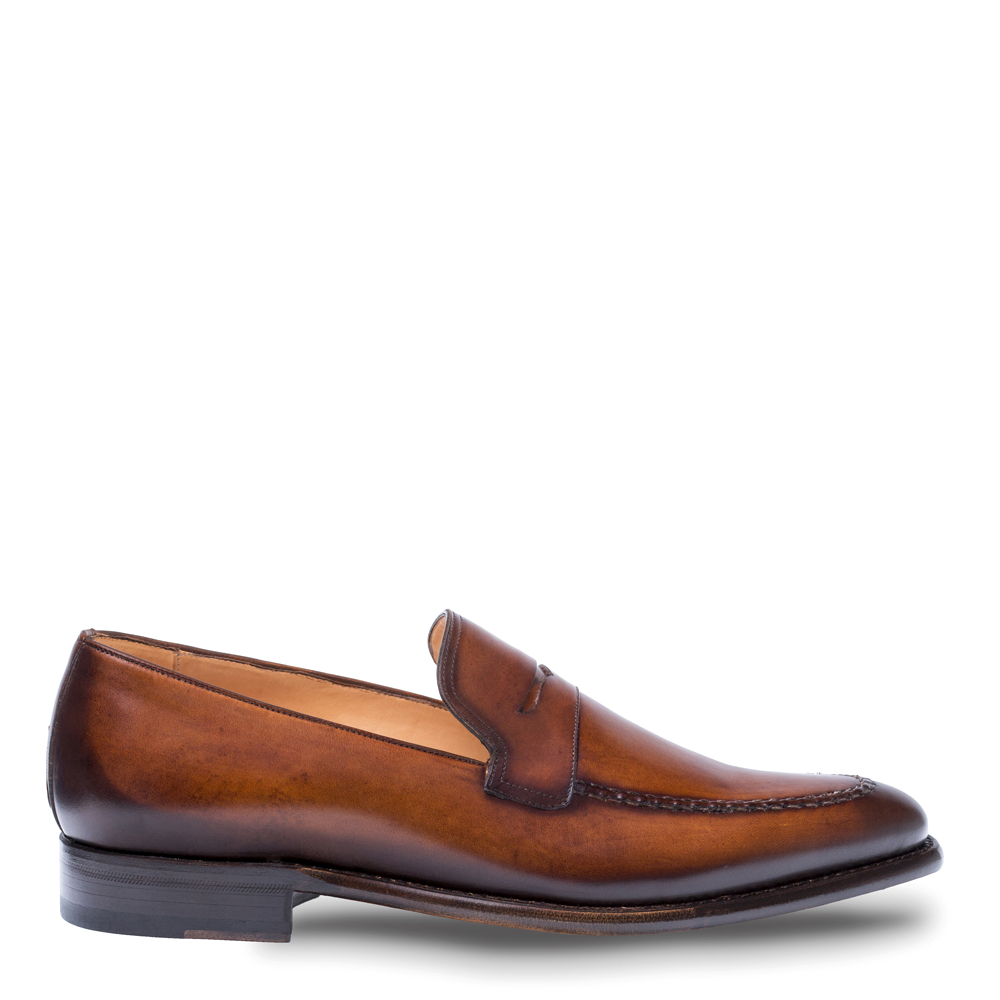 Mezlan Adler Classic Dress Penny Loafer Cognac 8516