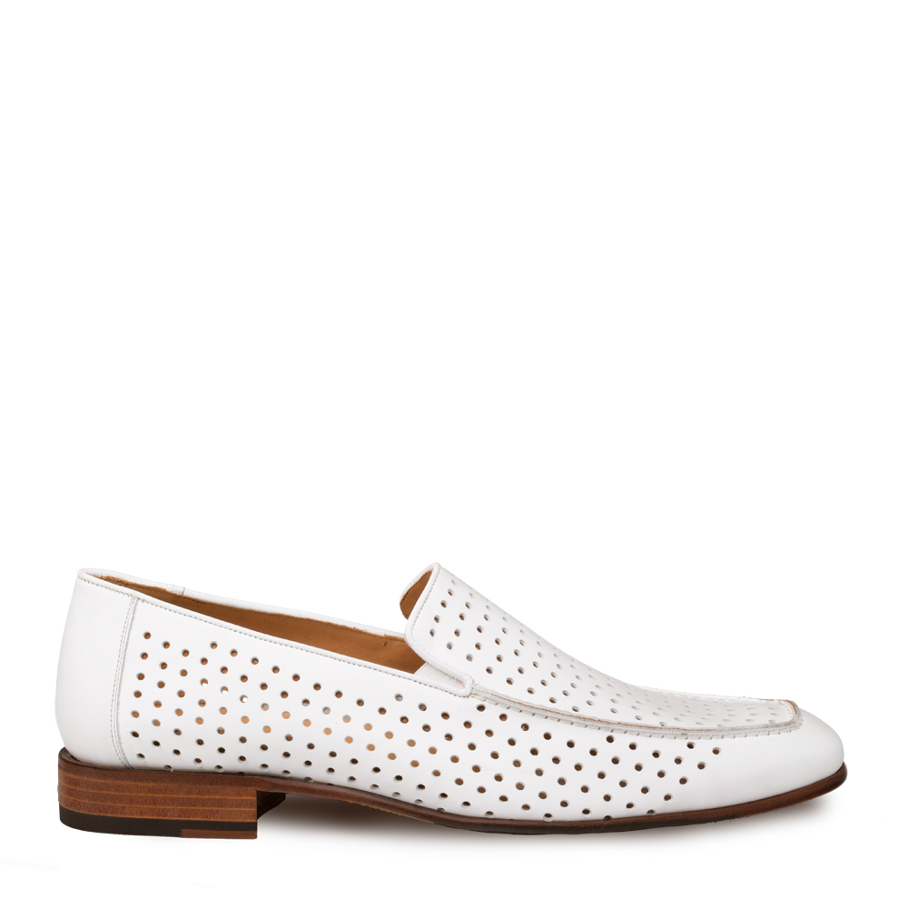 Mezlan Astori Perforated Calfskin Slip On 8889