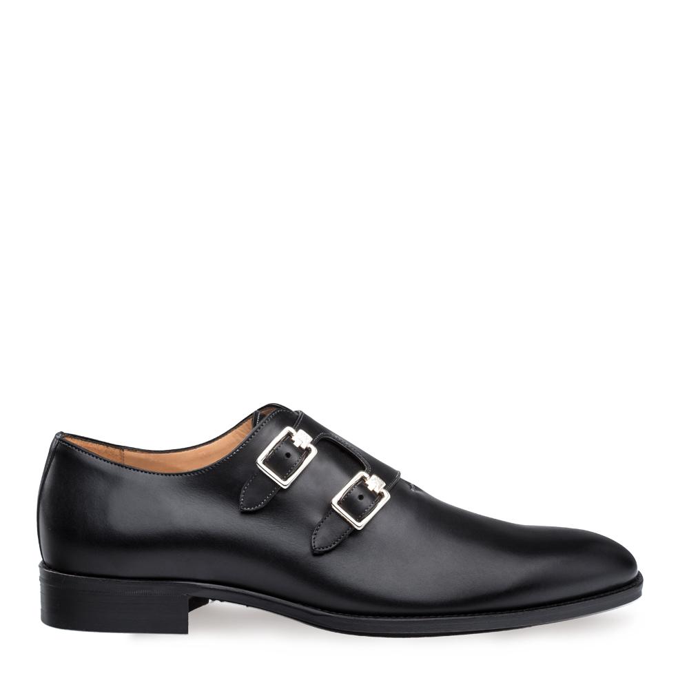 Mezlan Brescia Double Calfskin Monk Strap Shoe 9143
