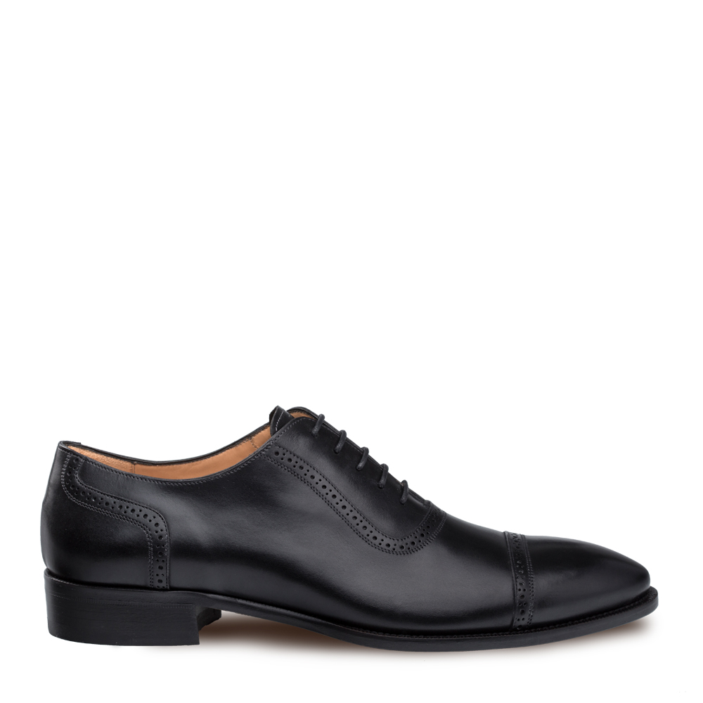 Mezlan Belgrade Calfskin Perforated Cap Toe Oxford Shoe 9208