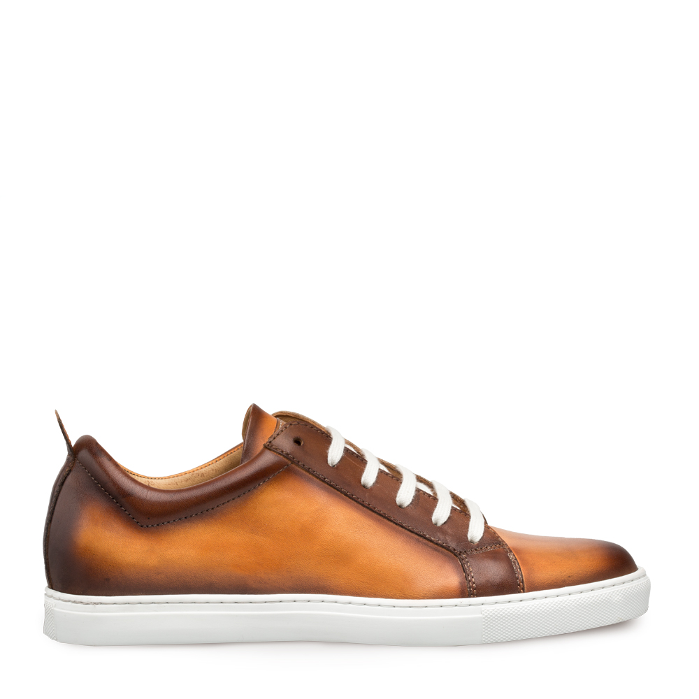 Mezlan Artemis Calfskin Lace Up Sneaker Honey 9486