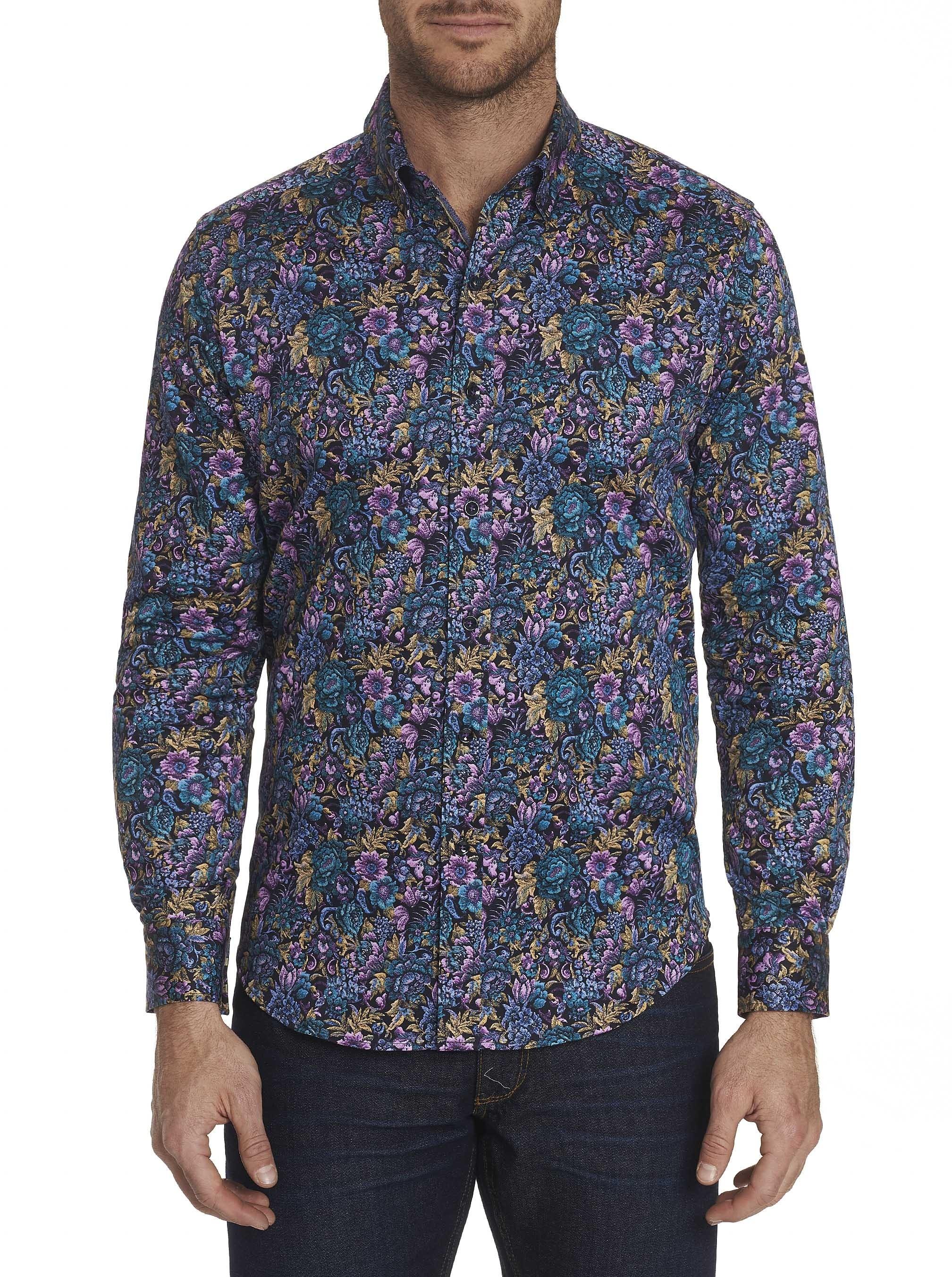 Robert Graham Tailored Fit Foster Sport Shirt Purple