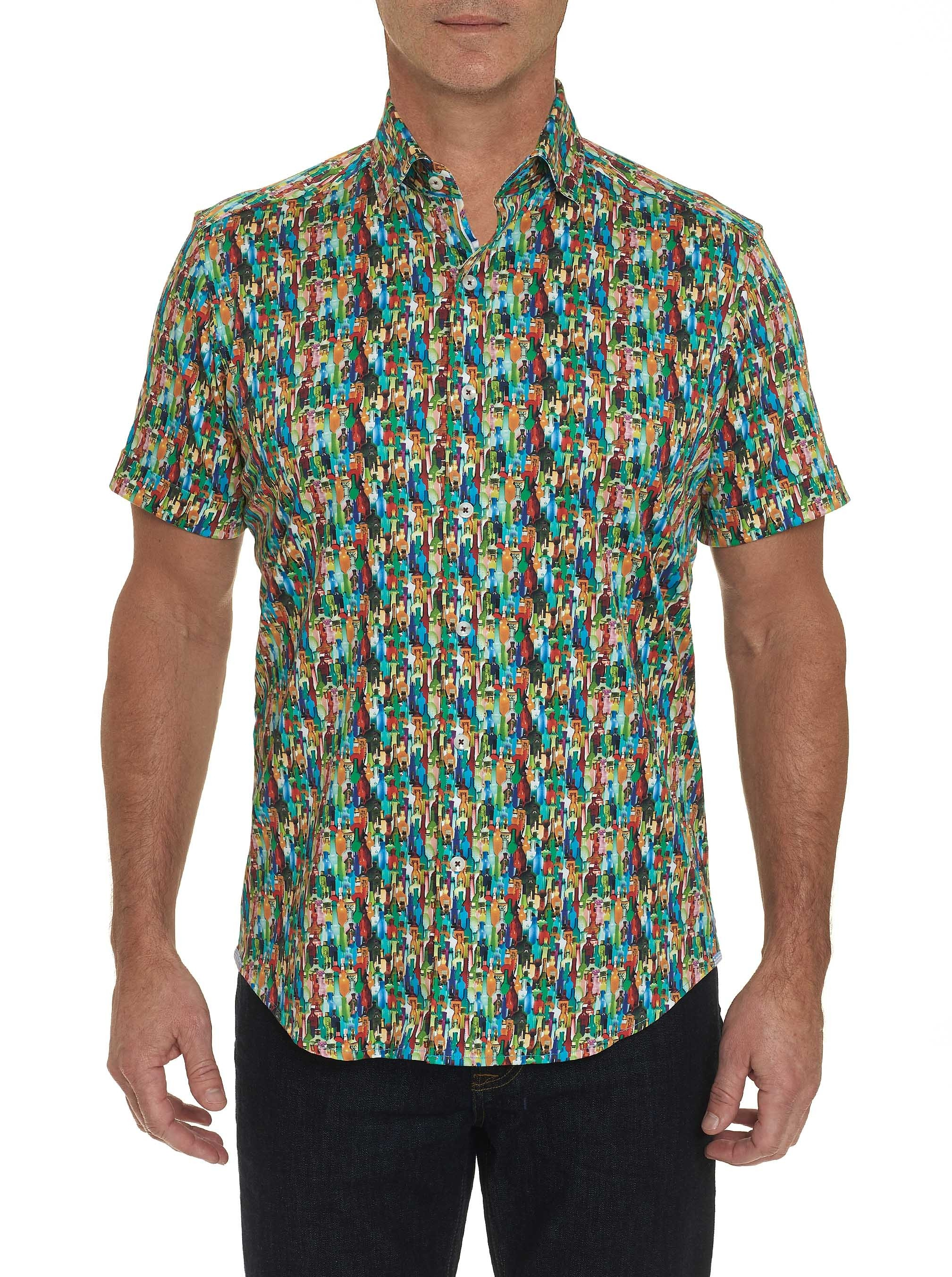 Robert Graham Bottle Service Short Sleeve Shirt Multi