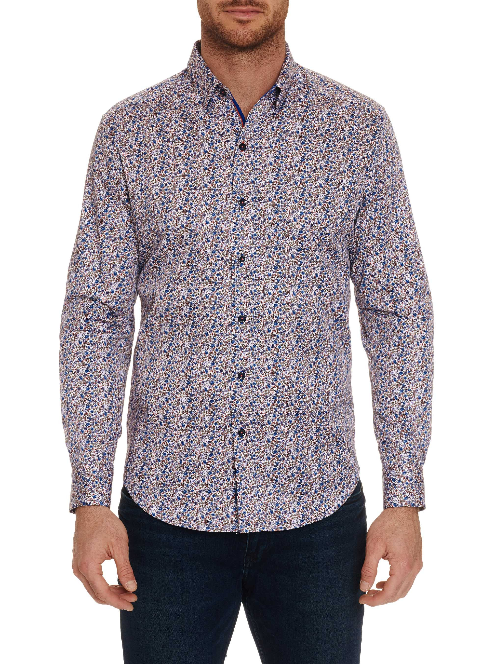 Robert Graham Cardin Tailored Fit Sport Shirt Multi