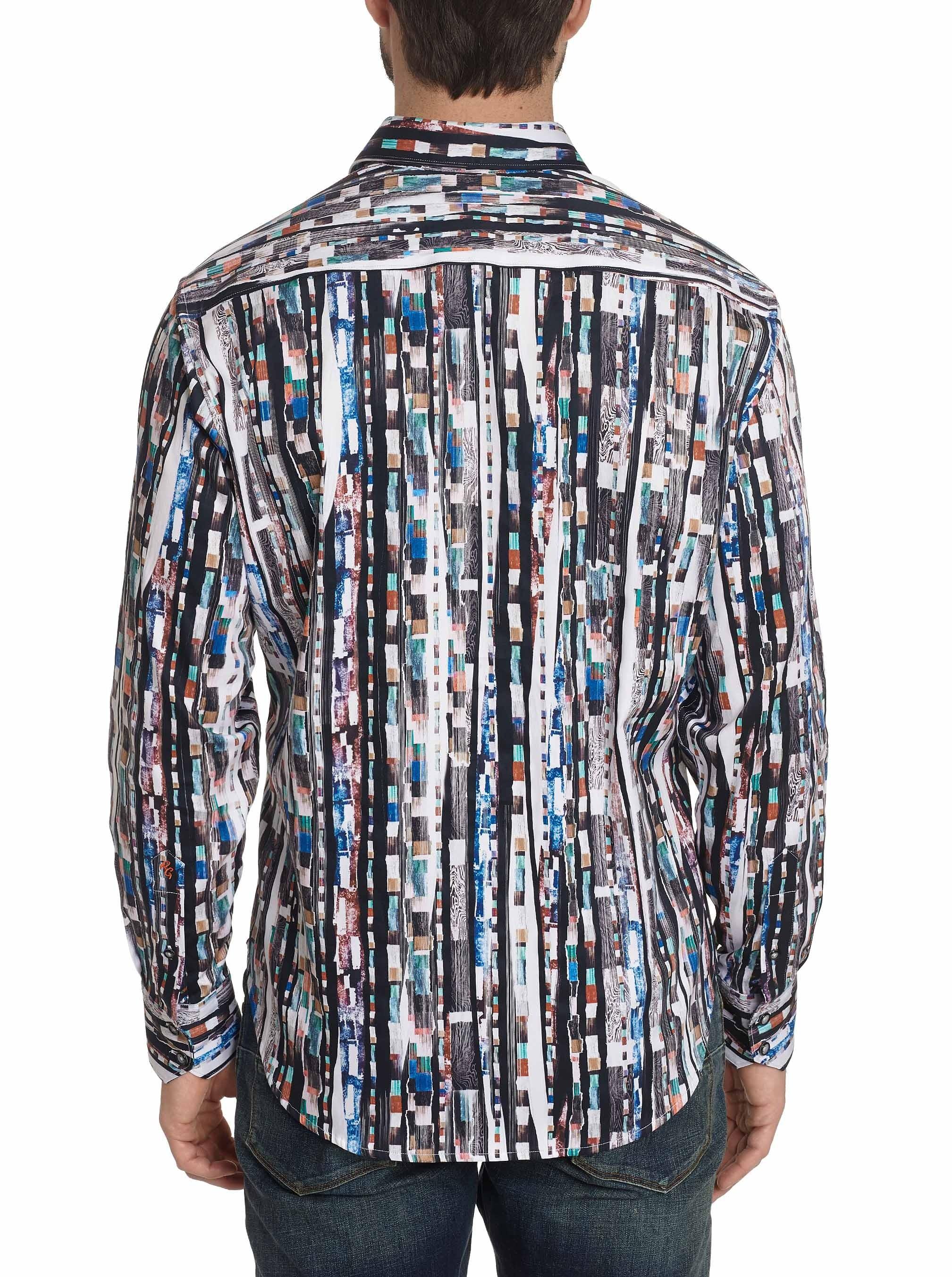 Robert Graham Cutting Room Print Long Sleeve Sport Shirt