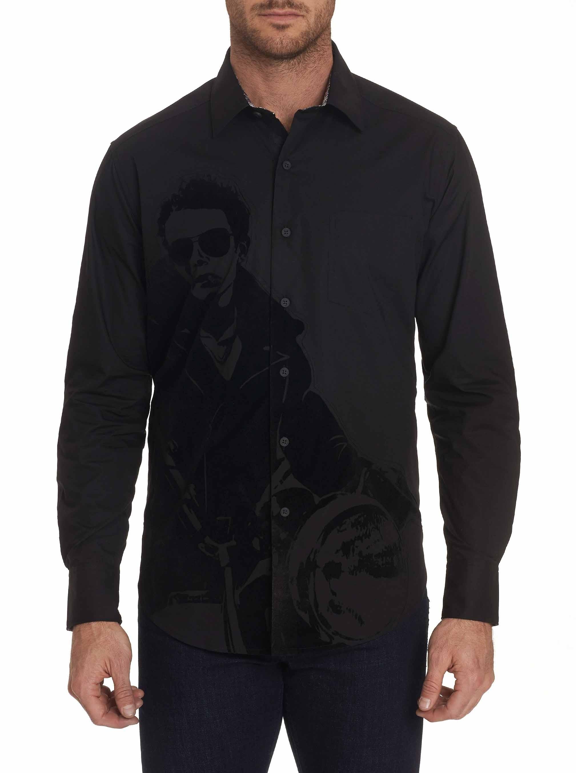 Robert Graham Chopper Sport Shirt Black