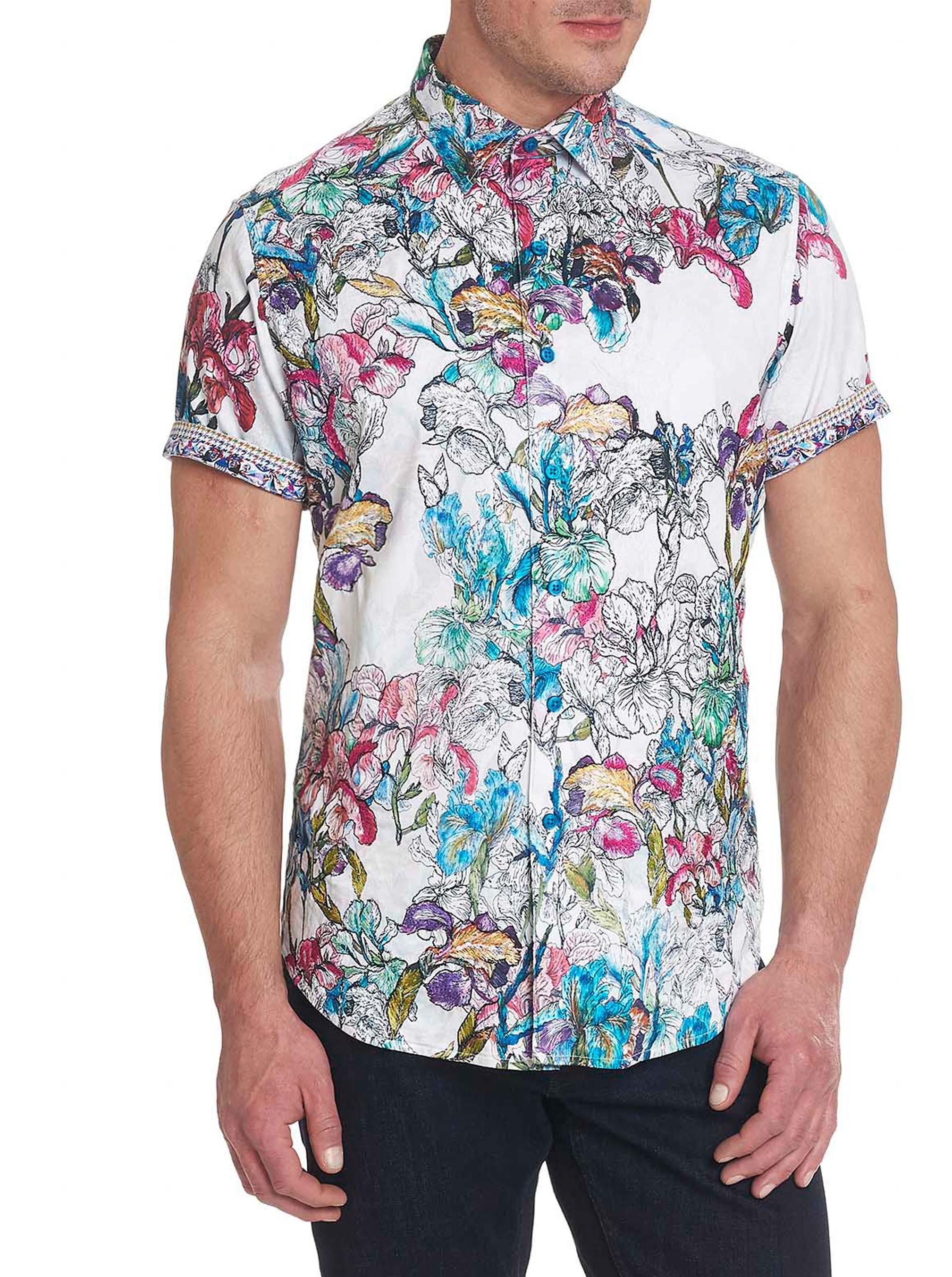 Robert Graham Broken Blossom Short Sleeve Shirt Multi