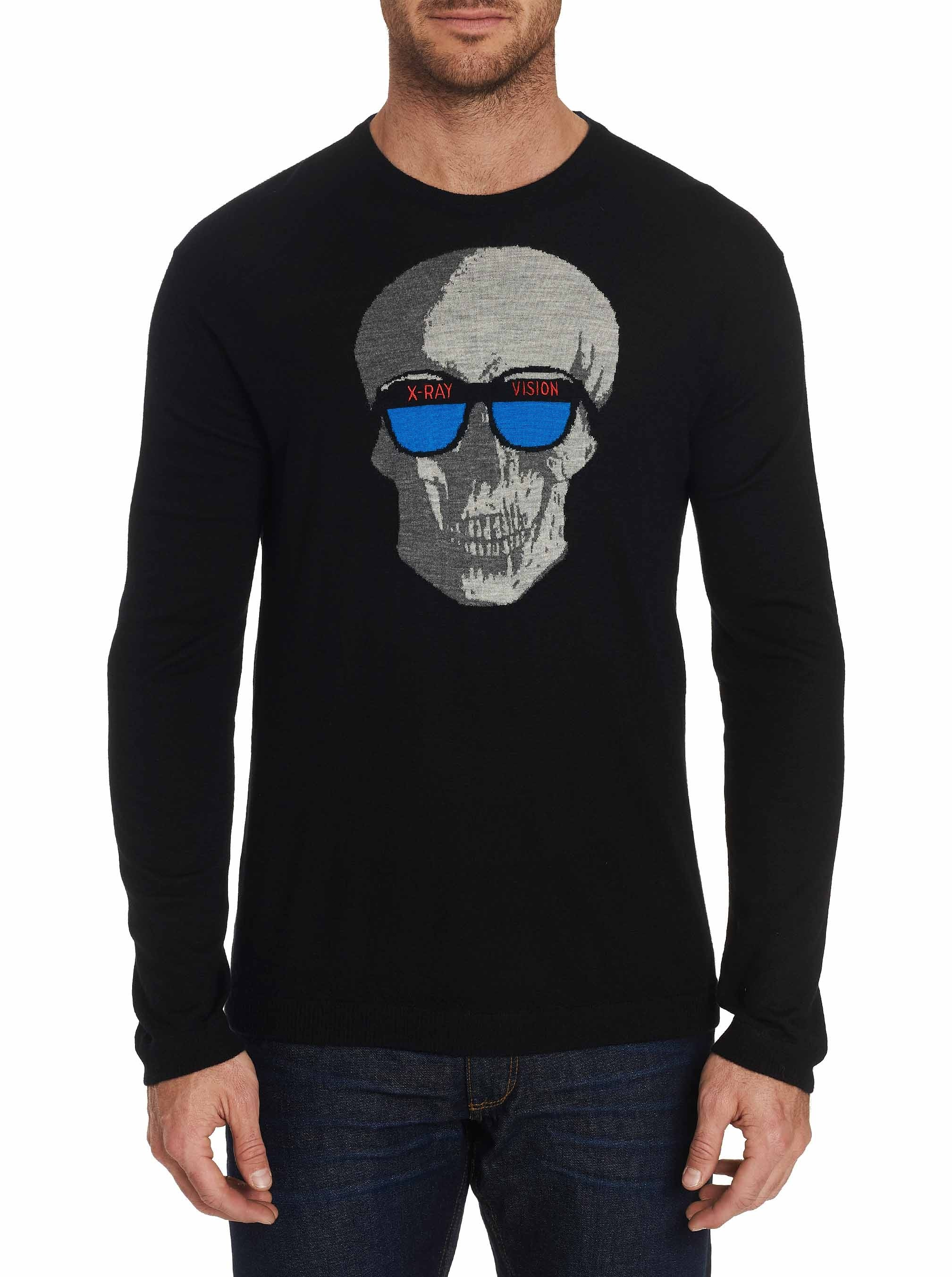 Robert Graham Limited Edition Xray Vision Cashmere Sweater Black