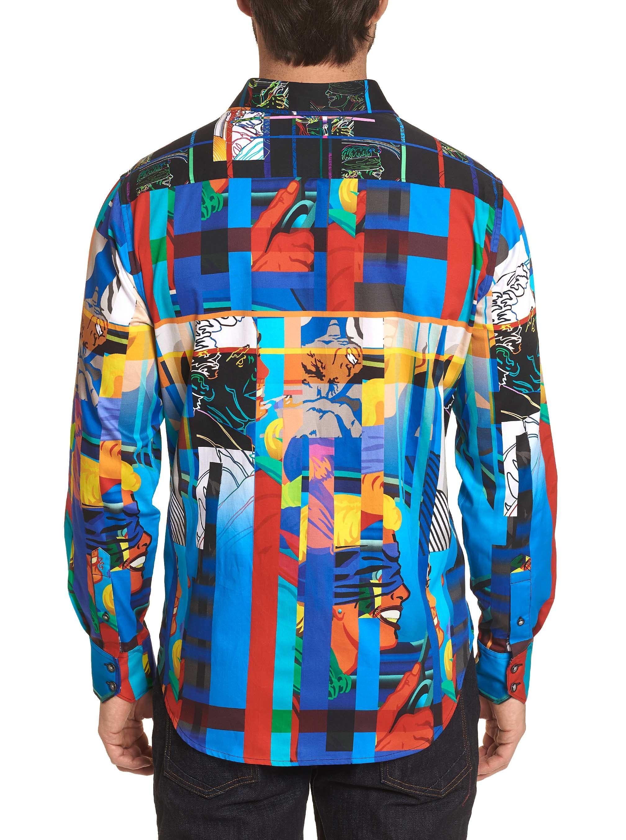 Robert Graham Blindfold Sport Shirt Multi
