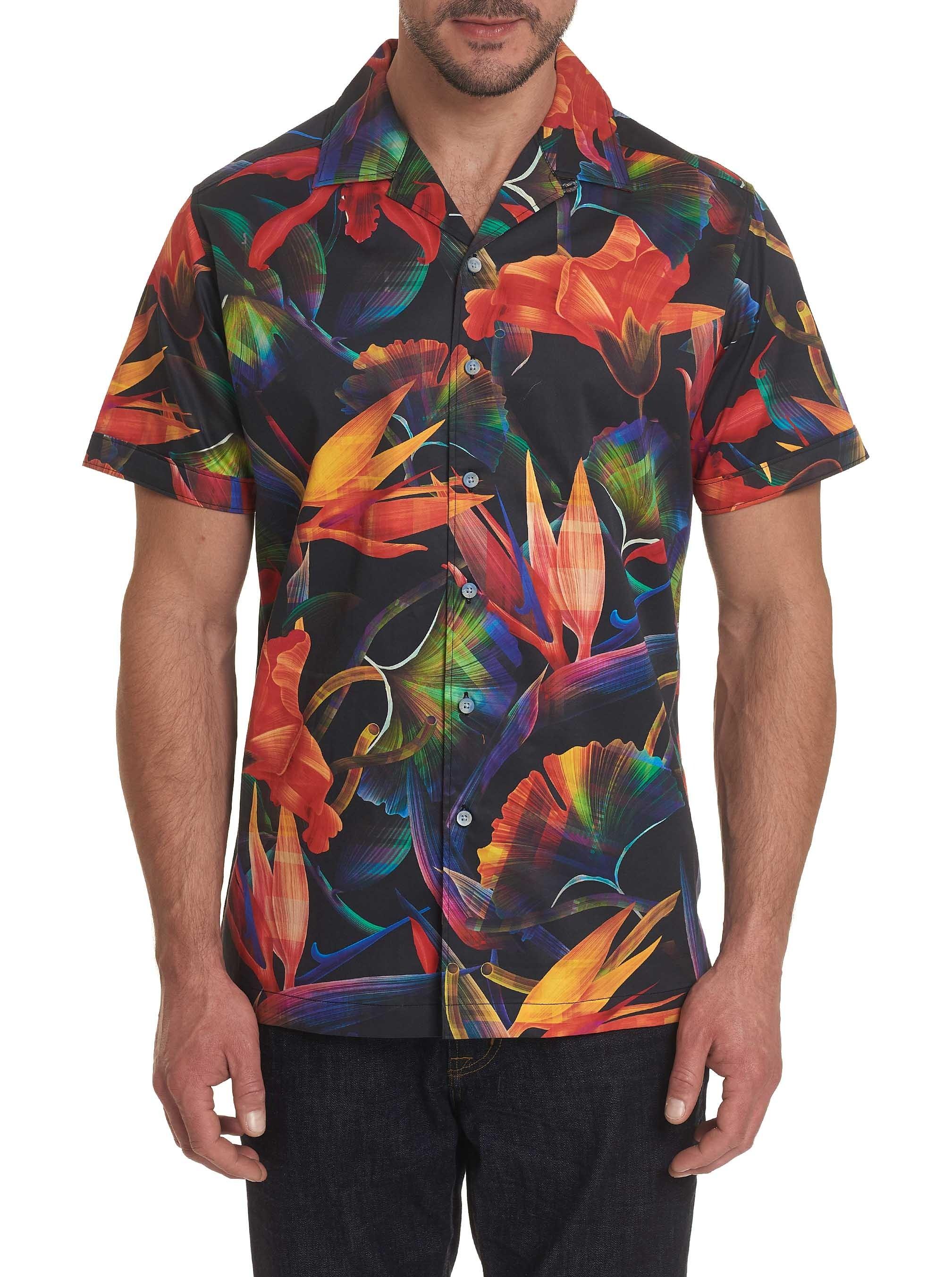 Robert Graham Arora Short Sleeve Shirt Black