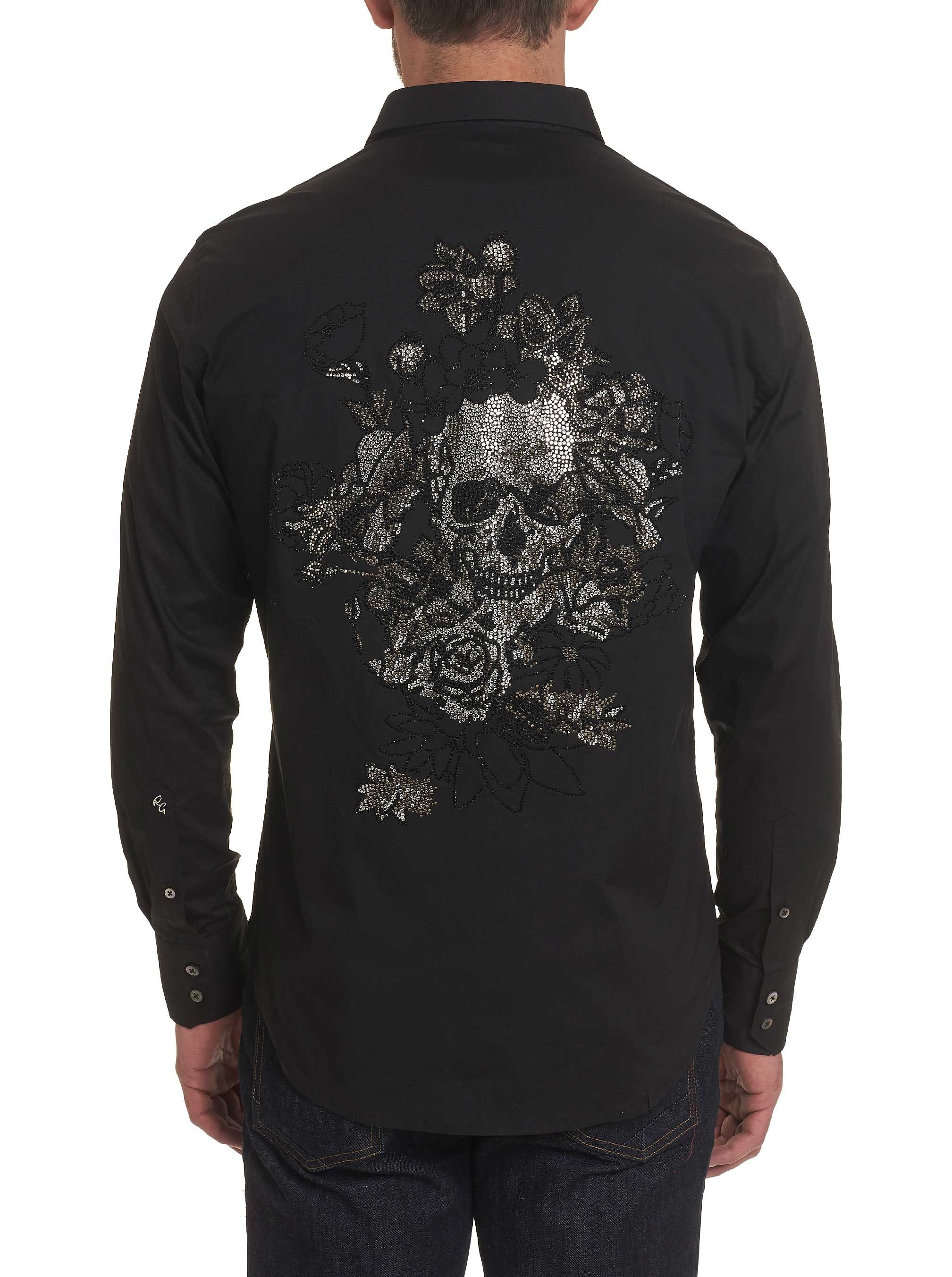 Robert Graham Merlo Beaded Skull Sport Shirt