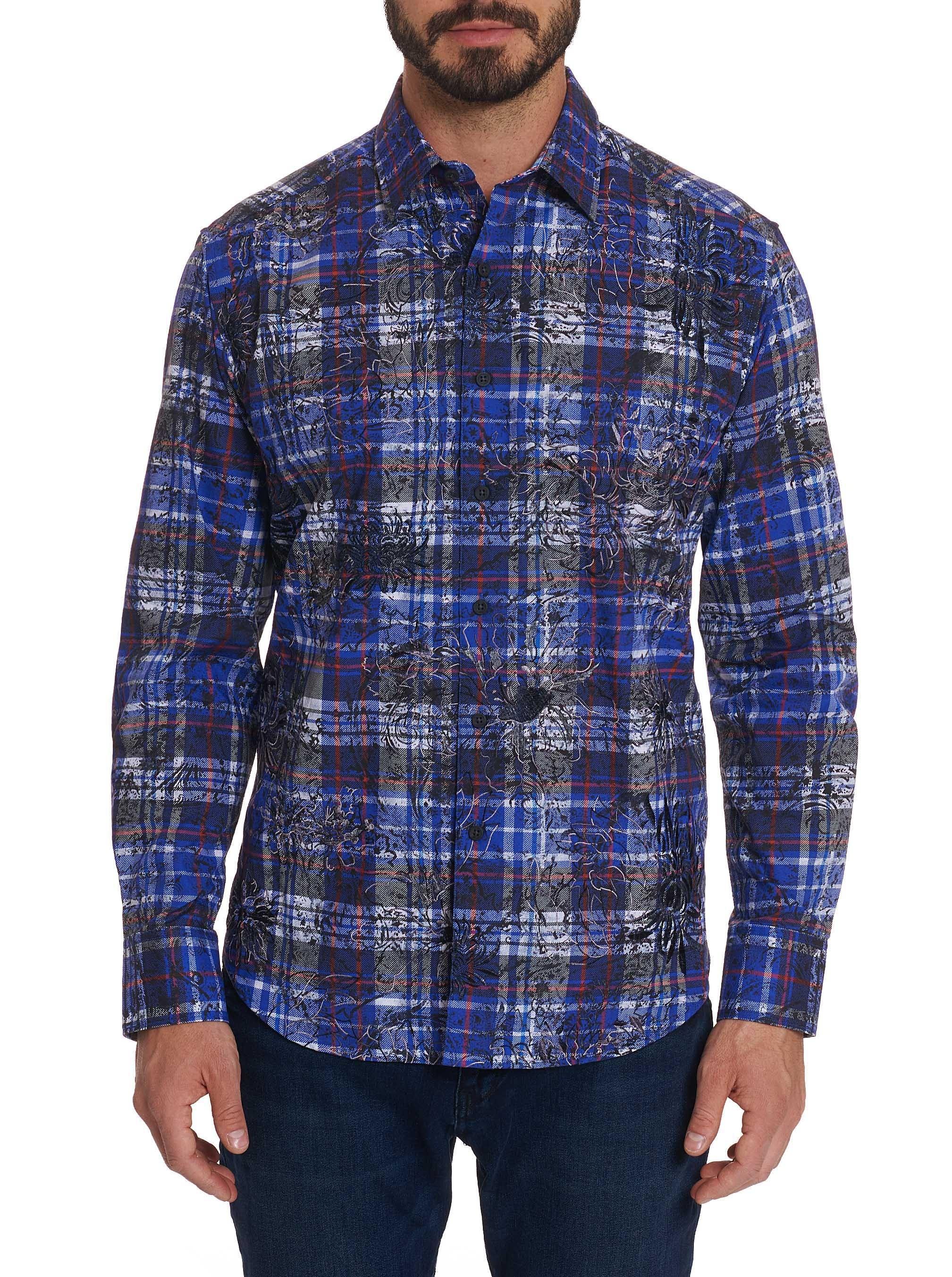 Robert Graham Akada Sport Shirt Cobalt