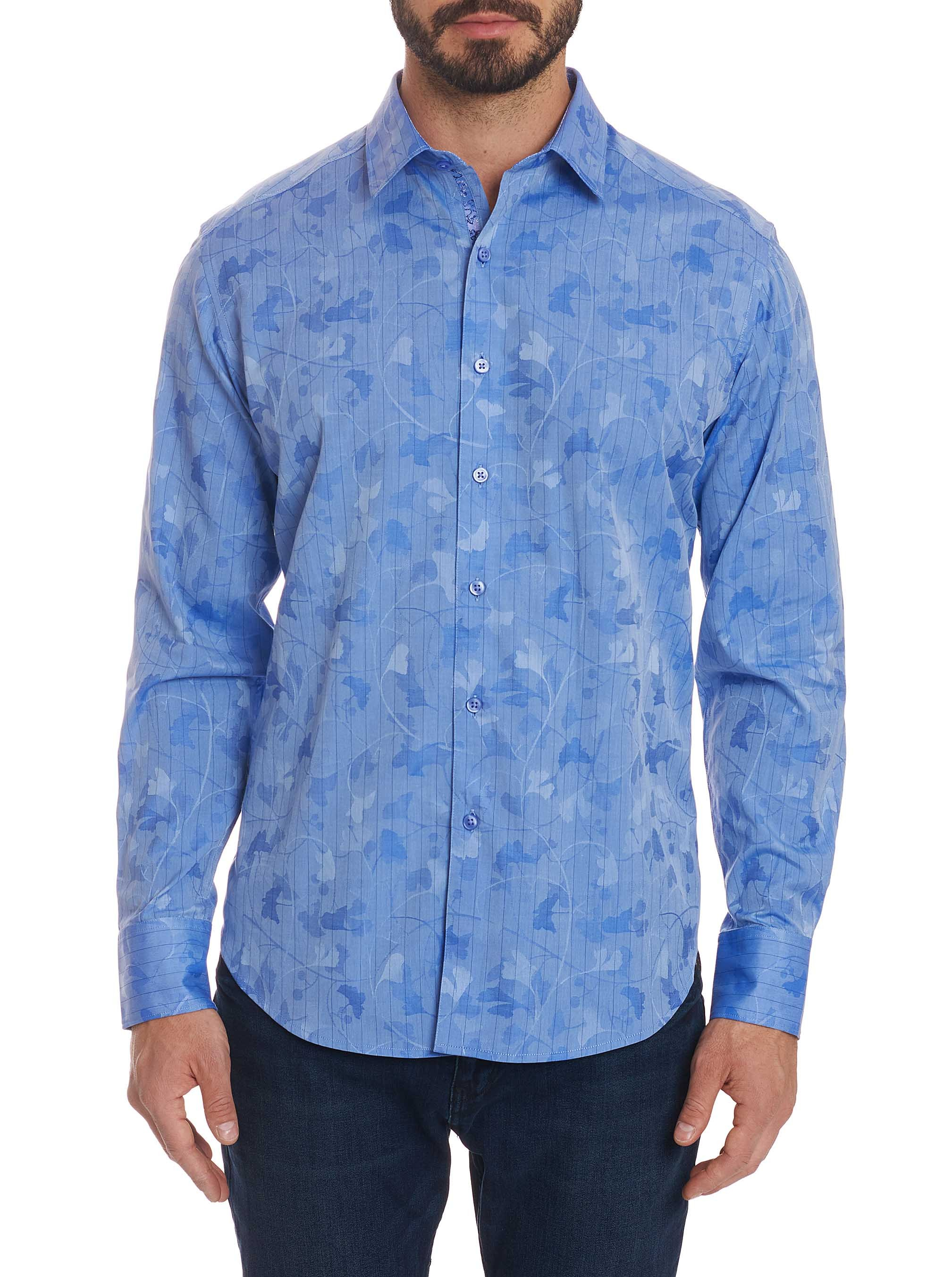 Robert Graham Aoki Sport Shirt Blue