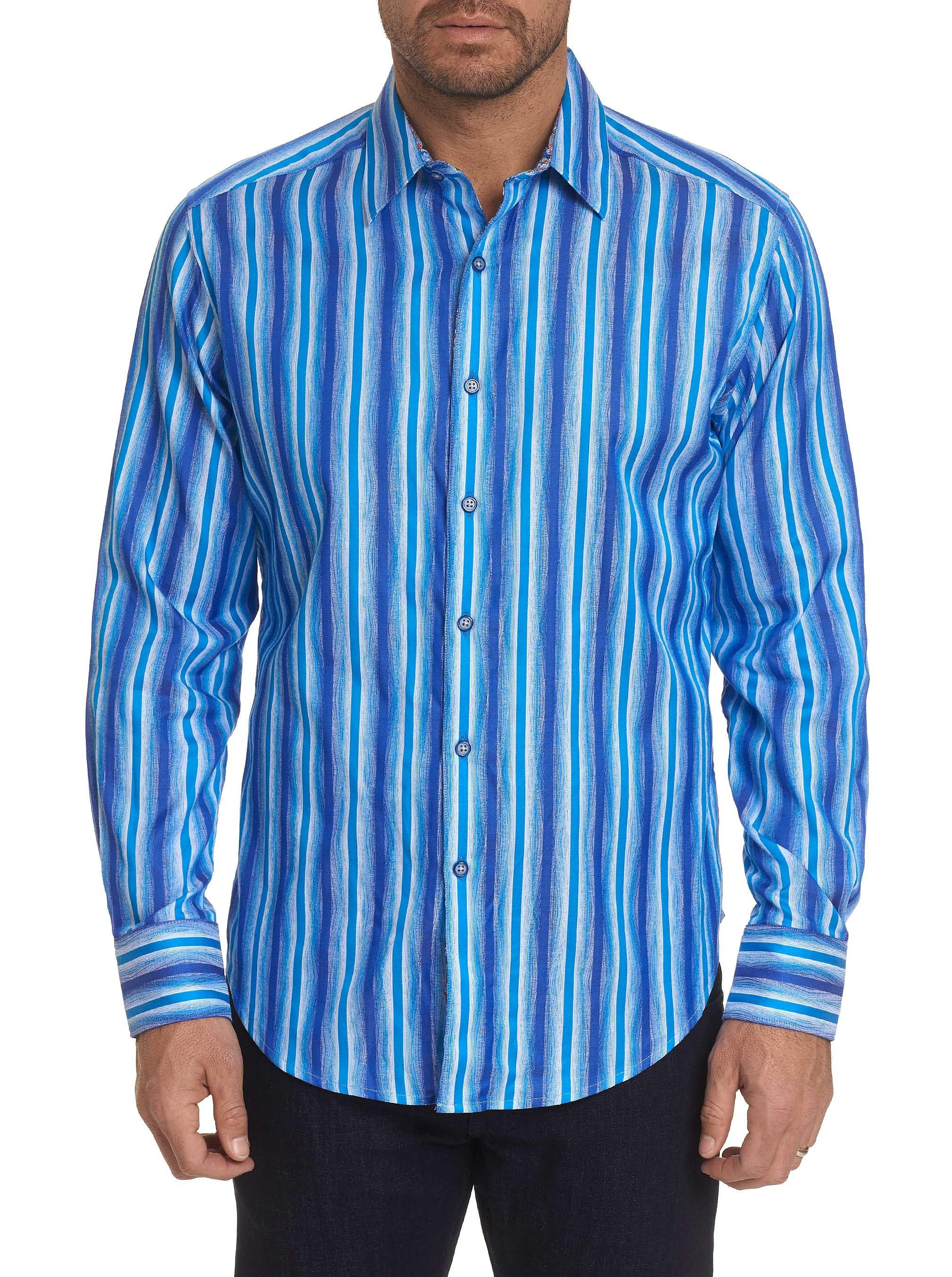 Robert Graham Frances Sport Shirt Blue