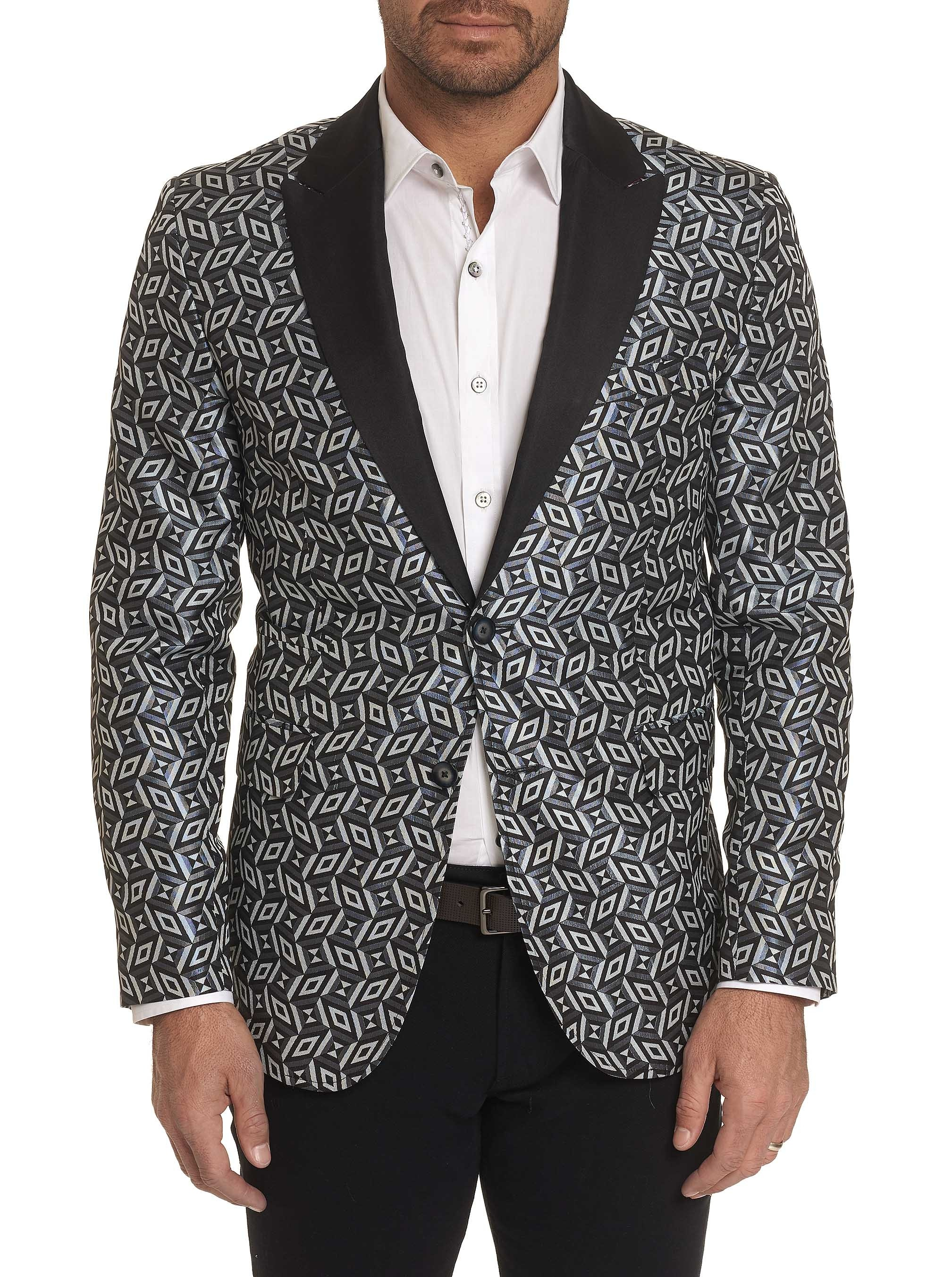 Robert Graham Limited Edition Marlowe Silk Sport Coat Grey