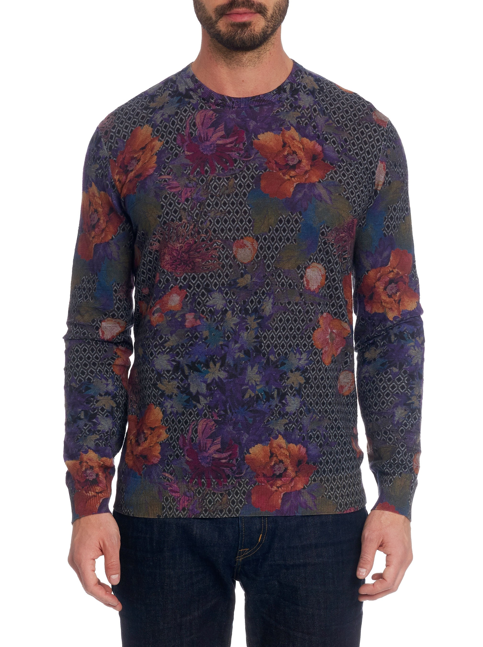 Robert Graham Hawkeye Sweater Grey