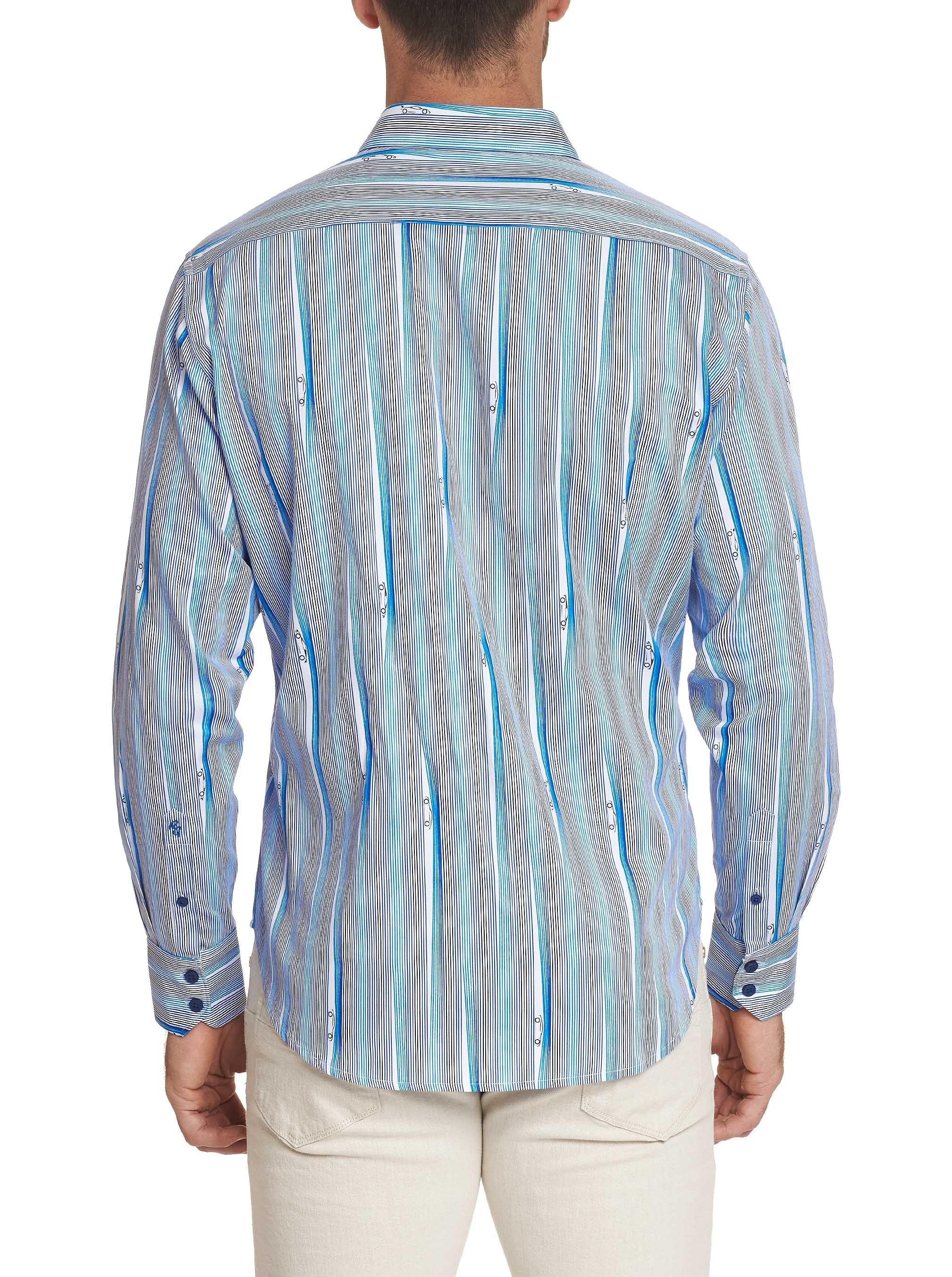 Robert Graham Cruisin Sport Shirt Blue