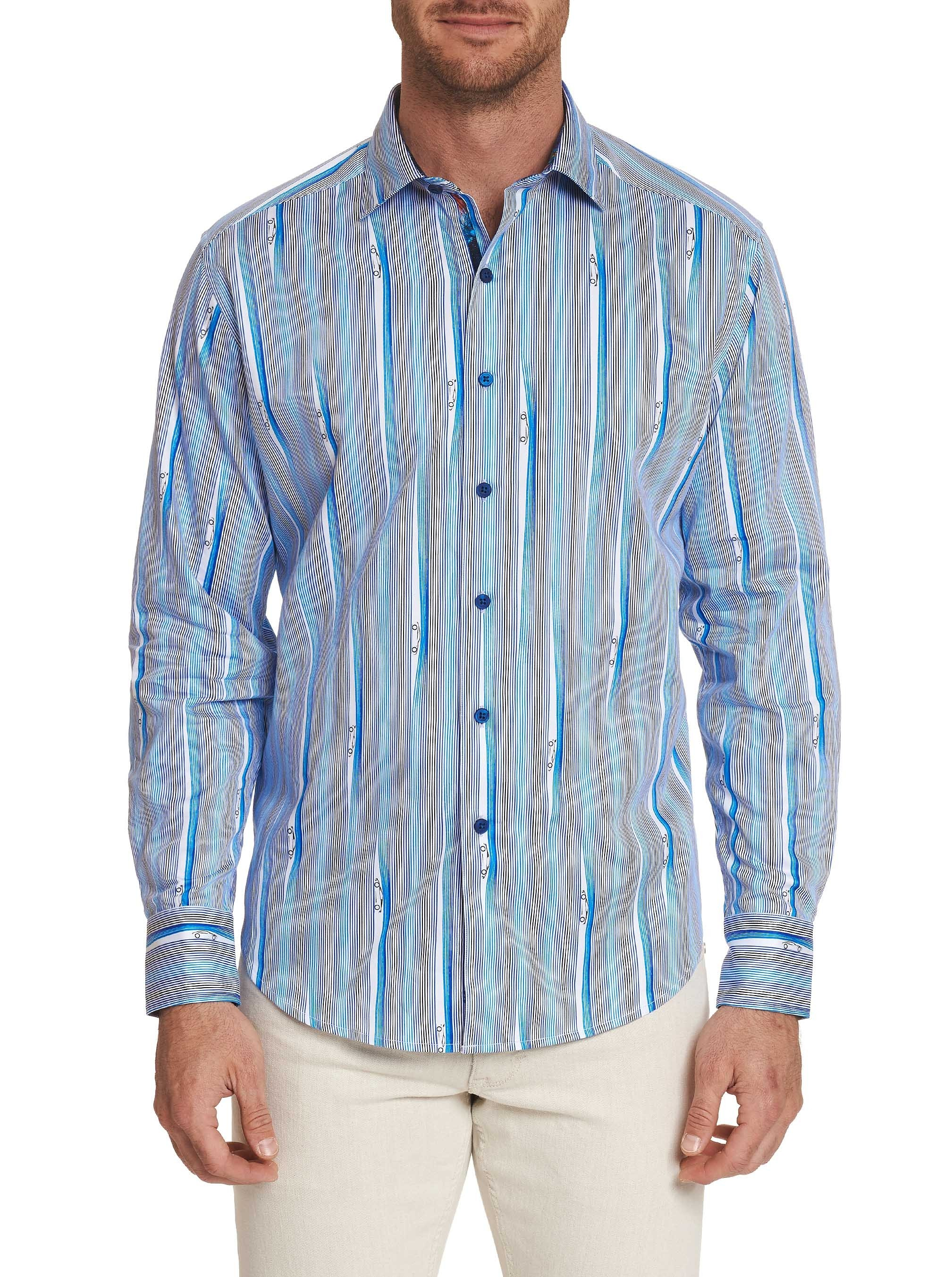 Robert Graham Cruisin Sport Shirt Blue STOCK