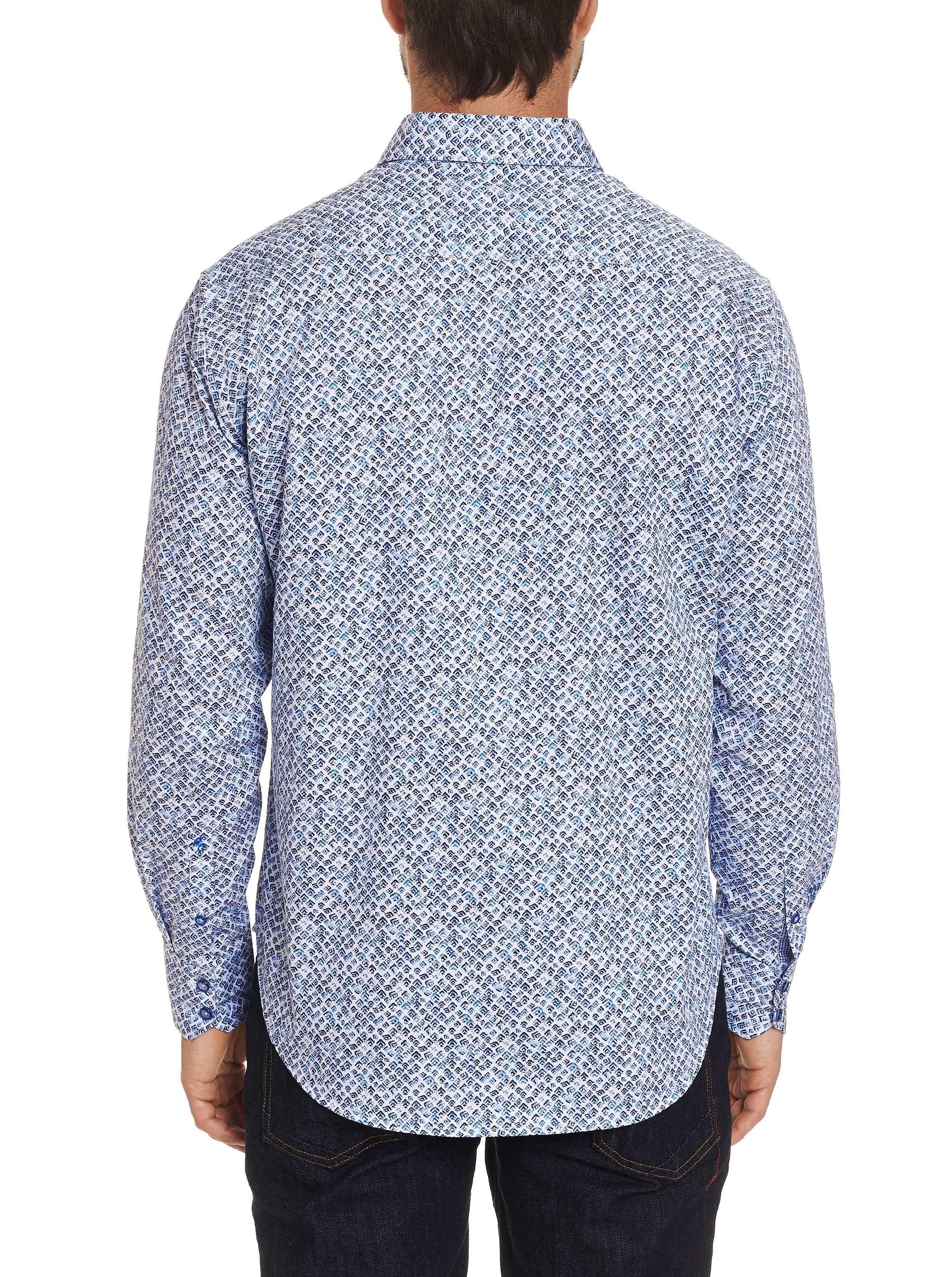 Robert Graham Celadon Sport Shirt Blue
