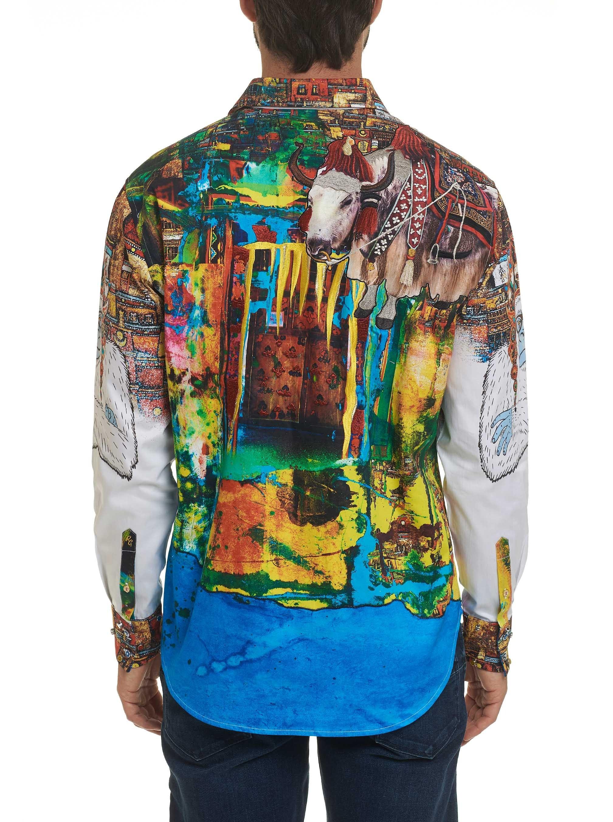 Robert Graham Limited Edition The Yaki Warrior Sport Shirt Multi