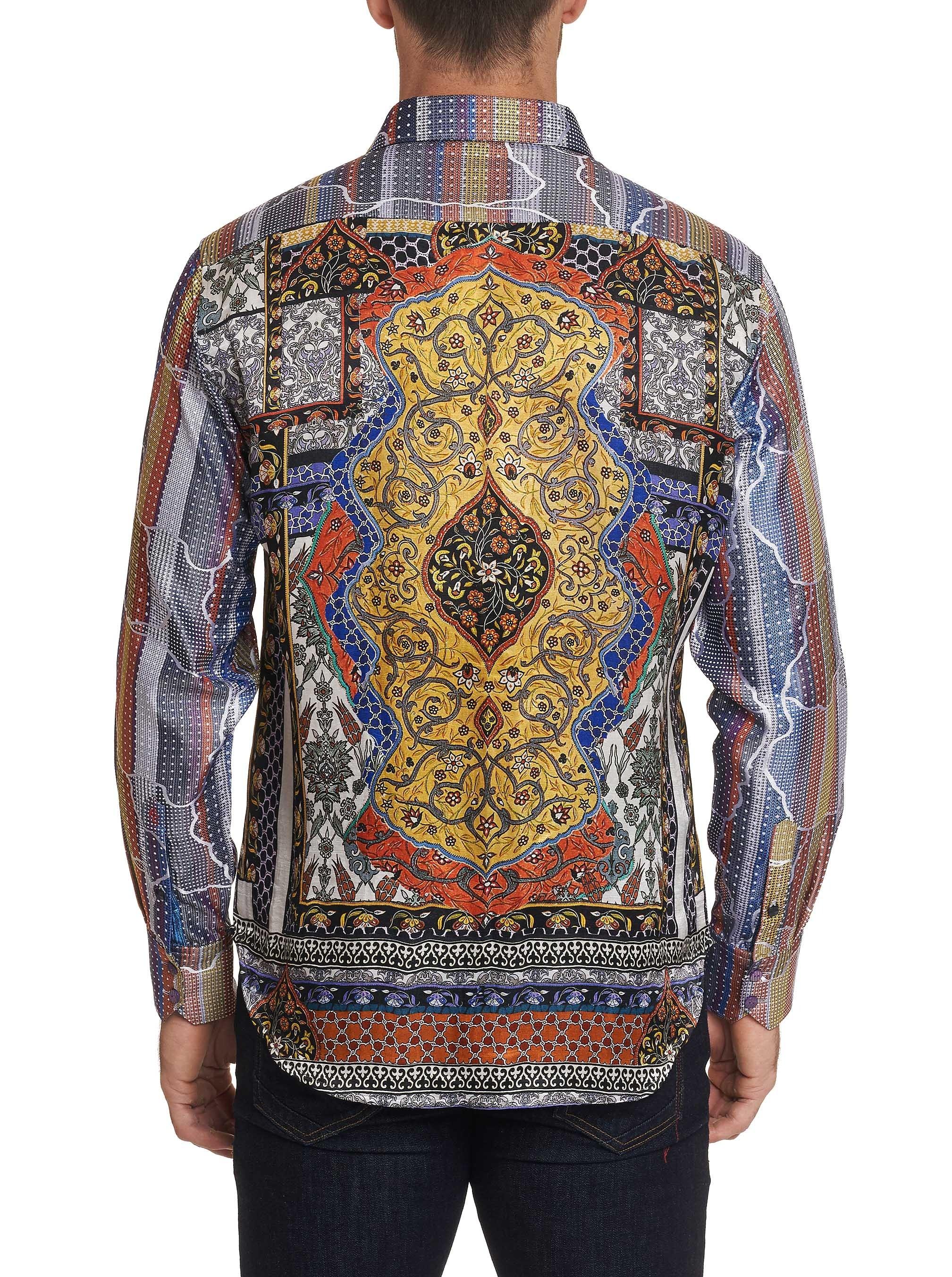 Robert Graham Limited Edition Armadillo Lair Silk Sport Shirt Multi