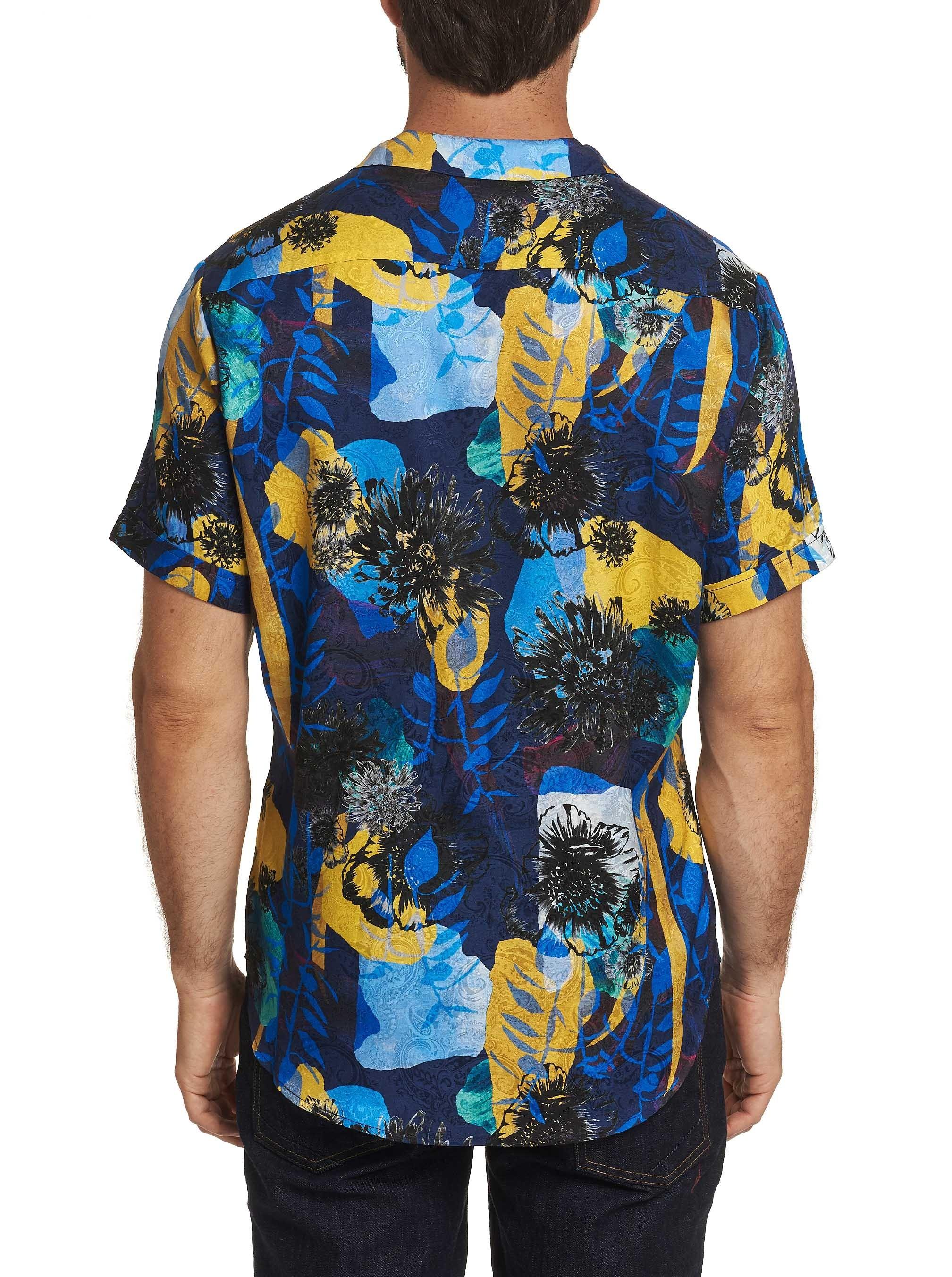 Robert Graham Hercules Silk Short Sleeve Shirt Multi