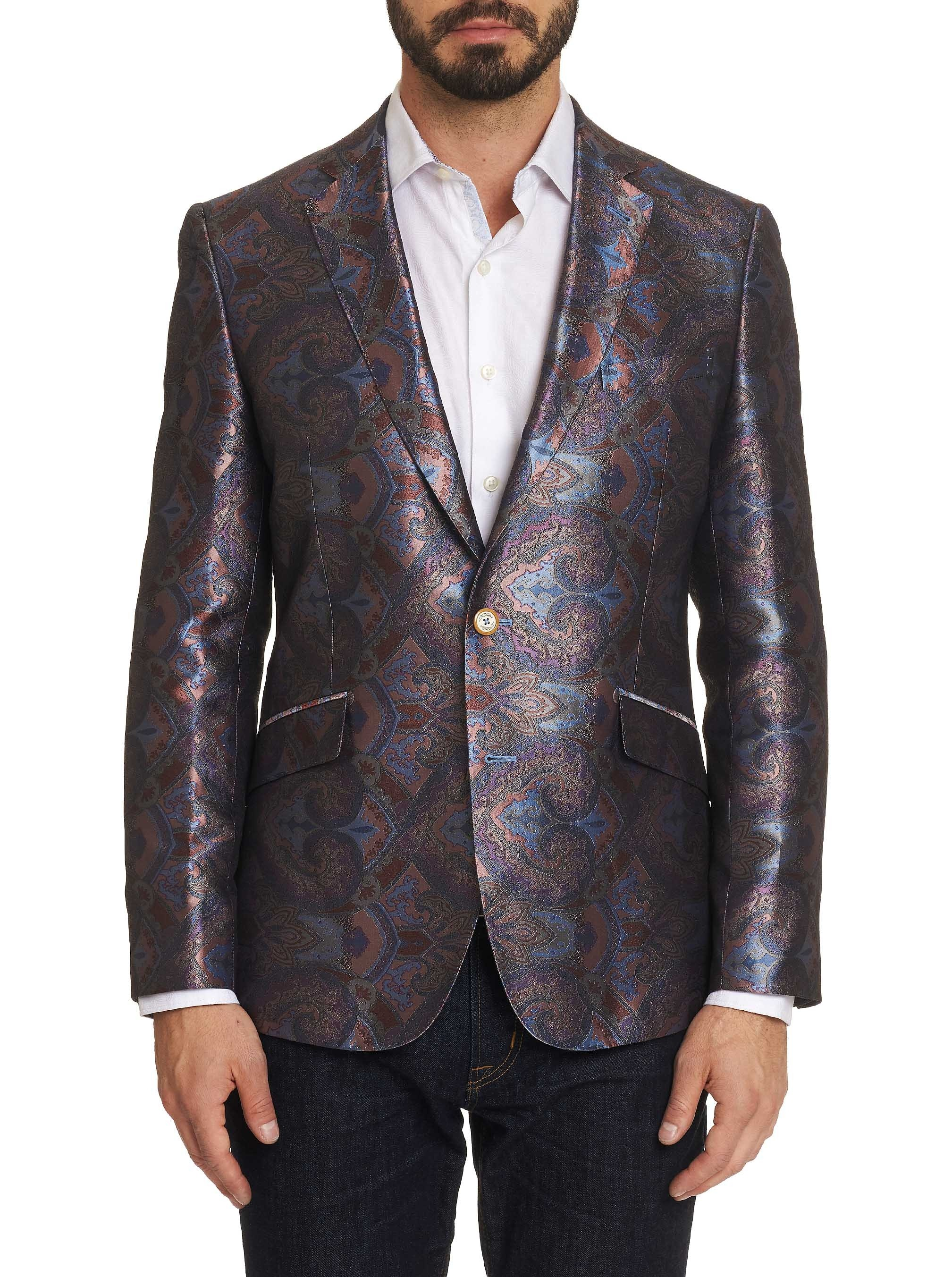 Robert Graham Limited Edition Hidden Lands Silk Sport Coat Multi