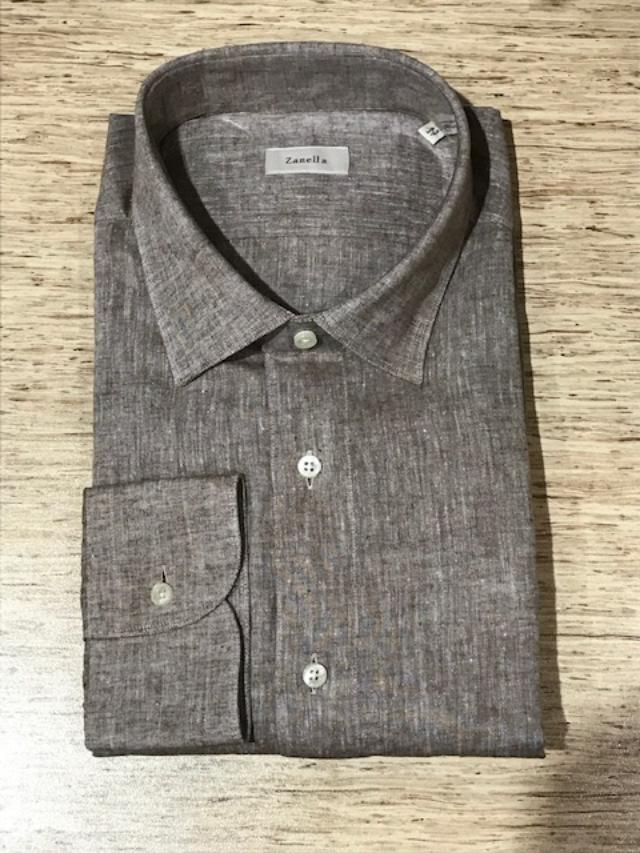 Men's Zanella Modern Fit Linen Dress Shirt