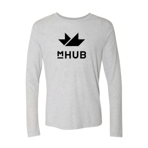 mHUB Basic Long Sleeve Shirt -  White S
