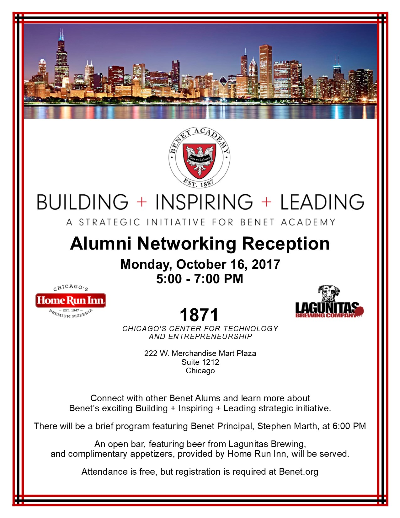 Building + Inspiring + Leading   Alumni Networking Reception