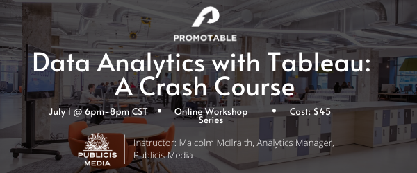 Data Analytics with Tableau: A Crash Course