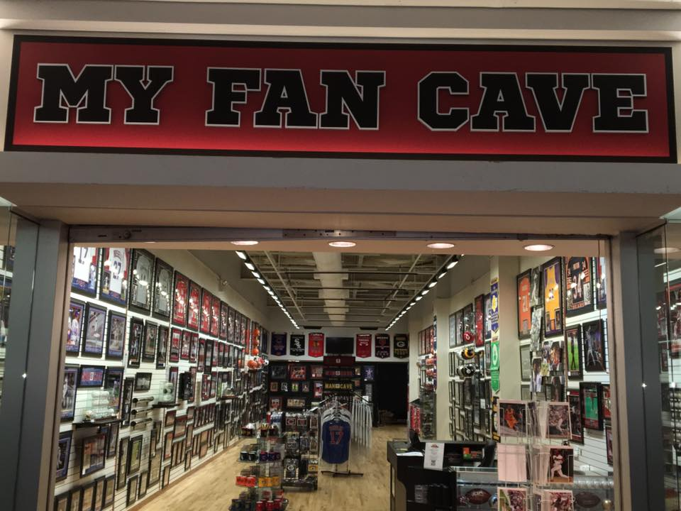 Man Cave Retail Store : My fan cave chicago retail store woodfield mall