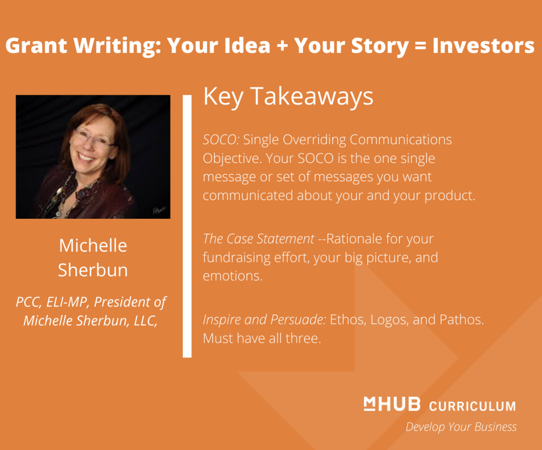 Writing a Successful Grant Proposal with Michelle Sherbun