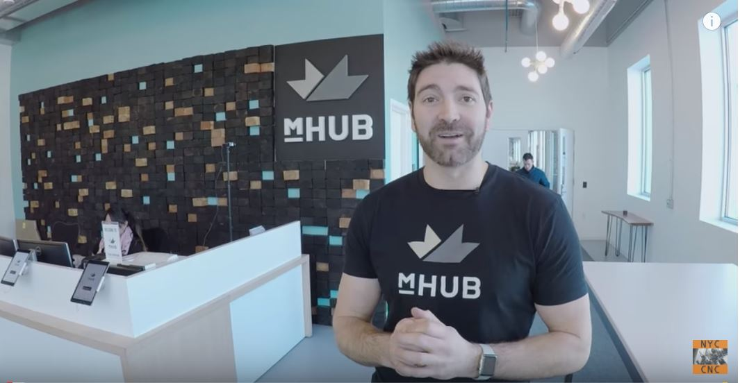 John Saunders of NYC CNC's Visit to mHUB