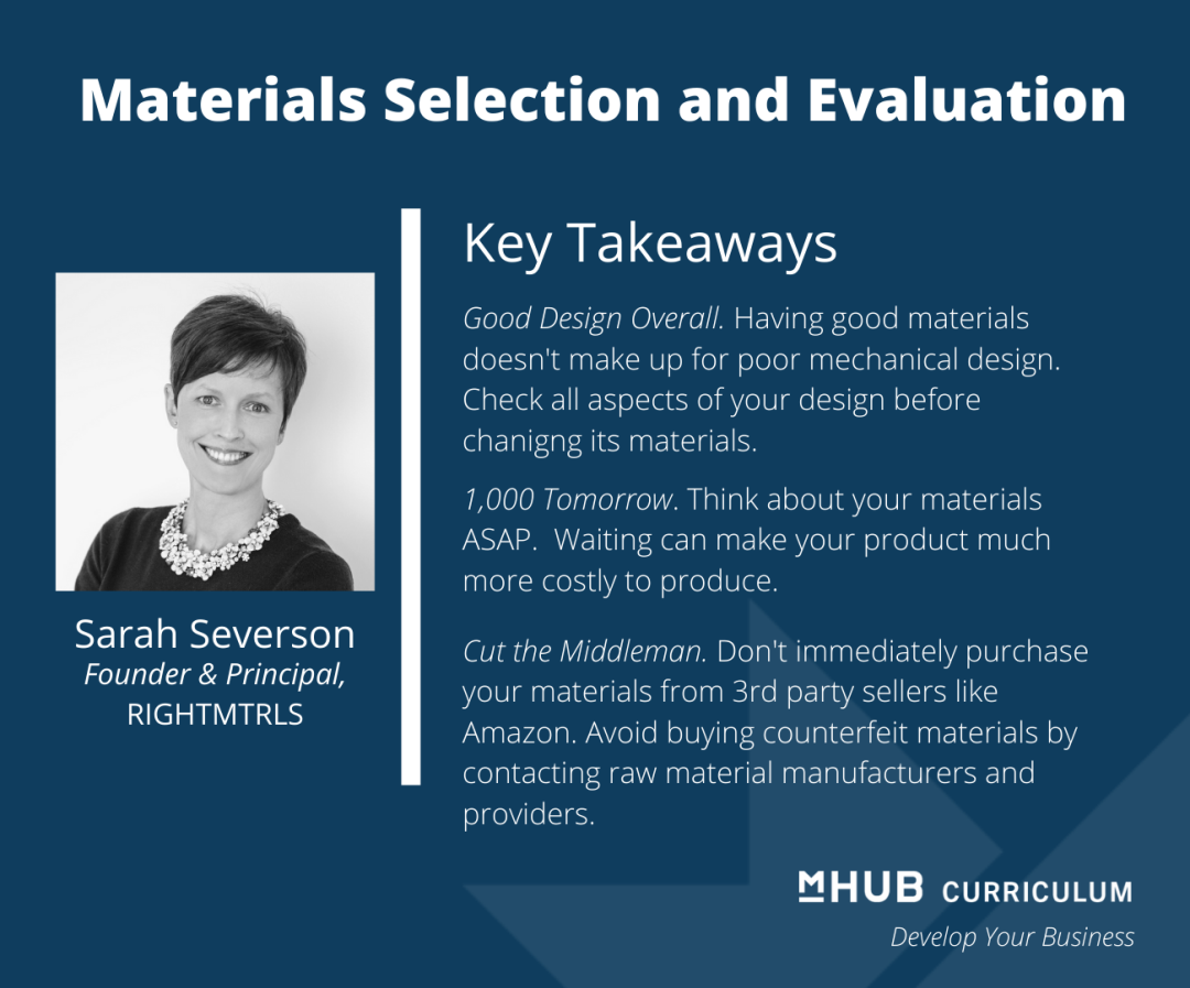 Choosing the Right Materials with Materials Engineer Sarah Severson
