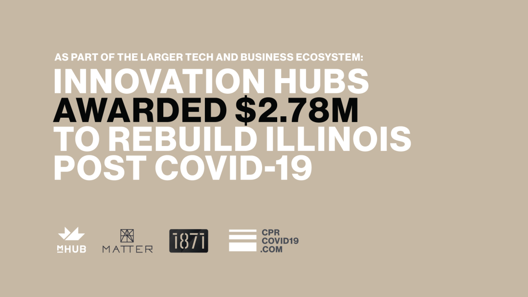 mHUB, MATTER and 1871 Secure $2.78M Federal Grant to Rebuild Illinois Economy Post-COVID-19 Through Tech and Manufacturing Innovation